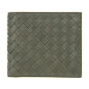 Bottega Veneta 2 fold wallet 193642 V4651 1300 calfskin (green)] Saif appreciation reduced brand new SALE