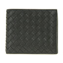 Bottega Veneta 2 fold wallet 193642 VX051 1000 calfskin (black)] Saif appreciation reduced brand new SALE