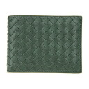 113112 3023 ボッテガ ヴェネタサイフ [BOTTEGA VENETA] men folio wallet V4651 calfskin (Forest green) strong yen reduction brand new article SALE