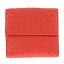 163240 6524 ボッテガ Benatar folio wallet V001N lambskins (new red) [BOTTEGA VENETA]