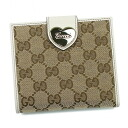 Gucci by GUCCI W hook purse 203549 FFPAG 9761 GG canvas / leather (Beige x white) popular brand new SALE 02P10Jan15
