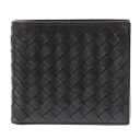 Bottega Veneta 2 fold wallet 193642 calfskin VAHF3 1000 (black) [BOTTEGA VENETA]] purse brand new SALE