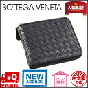 Bottega Veneta round two bi-fold wallet 222536 V4651 1000 (black) calfskin [BOTTEGA VENETA for _ Kanto]