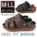 Domestic peace Japan made heel fit Sandals best comfort with backhand stick insoles mens Sandals Sandals Resorts summer sandal summer Sandals driving (driving) (2color / Black Brown)