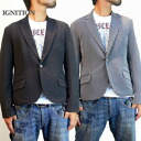 IGNITION1 つ button tailored collar jacket (two colors of / gray / black)