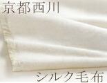 【京都西川シルク毛布ダブルサイズ