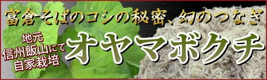 富倉そばのコシの秘密、幻のつなぎ オヤマボクチ