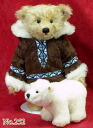 Steiff Maturin Teddy bear Eskimo WITH Paula bear stuffed animal Teddy bear Teddy bear