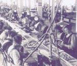 シュタイフ社工場風景