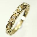 K18-diamond 0.1 ct lifeline ring (ring)