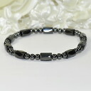 Magnetic power fully opening ♪ hematite design bracelet