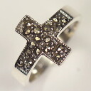 925* silver marker site ♪ Gothic cross ring