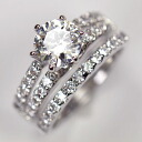 The ultimate high quality CZ use imitation ♪ wedding set rings (set of 2)