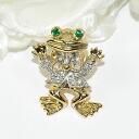 Is a broach shiningly; for fashion accent ♪ pin broach (jocular frog gold)