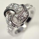 Sparkling high quality CZ. アンティークコネクト ring