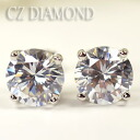 CZ use ♪ stud bolt pierced earrings (10mm) (the titanium post)