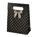 Wrapping just so convenient! wrapping bag (polka dot, black gold)