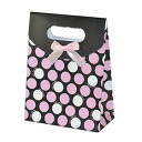 ♪ lapping bag (dot pattern, black pink) convenient in becoming the lapping only in this