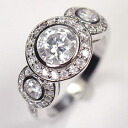 The ♪ triple elegance ring where CZ of high quality wins