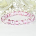 Lovely beads in rose ♪ romantic Bracelet (Pink)