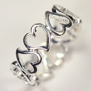 A deep-discount sale! Heart design ring 12.5