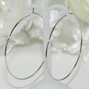 A deep-discount sale! Rather thin big hoop pierced earrings (silver)