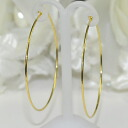 A deep-discount sale! Rather thin big hoop pierced earrings (gold)