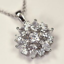 ♪ go Japanese Agricultural Standards winter flower pendant (clear) which spread CZ all luxuriously