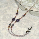 ♪ glasses necklace (almond amethyst) stylish with convenience