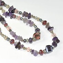 Amethyst x natural stone used! 2 long Necklace (purple)