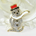 Is a broach shiningly; for fashion accent ♪ pin broach (the snowman which a muffler streams in)