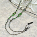 Convenient, stylish ♪ meganenecklace (dragonfly jade almond-green)