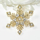 Neck and bag at one point ♪ brooch (gold snowflake )