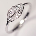 Silver 925 x high quality CZ ♪ leafpavering