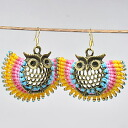 High quality and happy OWL ♪ antique aulupias (yellow)