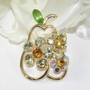 In neck and a bag one point ♪ broach (colorful pear)