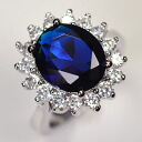 It looks very Royal fire ♪ Sapphire CZ engagement ring