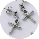 Second earring titanium allergy free MARE cross express 100 yen up