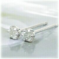 ラチナ&天然ダイヤモンド0.1カラット