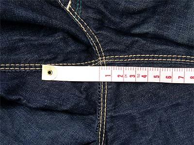 股の付け根、裾直しスタート位置
