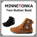 MINNETONKA Womens Two Button Boot 2 button boots suede short boots genuine HARD SOLE 442 449 2 color expansion ★ autumn/winter 2013 new ★