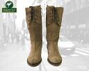 Palanco ladies S.AFELPADO レースアップデザインスウェード leather boots ナチュラルレザーミディアム boots! Reference retail price: 44100 Yen so far