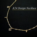 K24 (solid gold) design a necklace (42 cm in length / weight approx. 2 g)