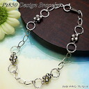 Platinum (Pt850) design Bracelet (3 g / mirror ball)