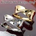 White and yellow gold (K18WG/YG) design ring (wide / 2 colors)