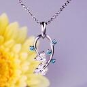 Platinum 900 ブルーダイヤモンドネックレス (D TOTAL0.50ct)