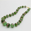 Special price gradient Venetian glass necklace made in Italy (eleganzagreen).