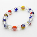 Price reduced! So cute made in Italy Venetian glass bracelet multi-color (silicone type)