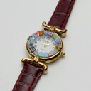 Made in Italy-Venetian glass handmade watch レッドベルト