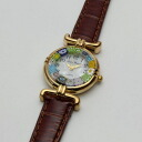 Product made in 50%OFF Italy of the normal price, venetian glass handmade watch brown belt